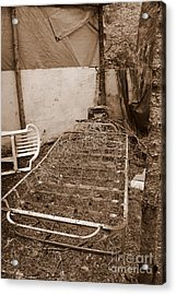 Acrylic Print featuring the photograph Bare Bones Miners Camp by Marie Neder