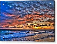 Barefoot Beach Sunset Acrylic Print by Rich Leighton