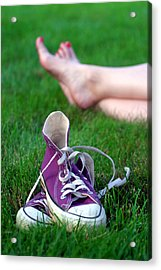 Barefoot In The Grass Acrylic Print