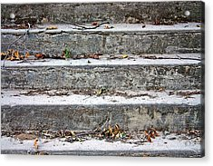 Acrylic Print featuring the photograph Barge Town Grocery Steps by KayeCee Spain