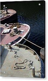 Barging Forward Acrylic Print by Jez C Self