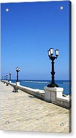 Bari Waterfront Acrylic Print by Rob Tullis