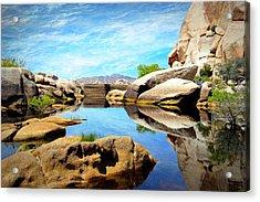 Acrylic Print featuring the photograph Barker Dam - Joshua Tree National Park by Glenn McCarthy Art and Photography