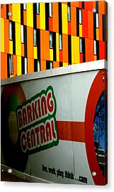 Barking Central Acrylic Print by Jez C Self
