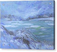 Barlow Pond Snowscapr Acrylic Print