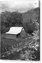 Acrylic Print featuring the photograph Barn 3 by Mike McGlothlen