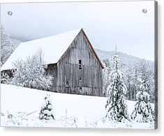 Barn After Snow Acrylic Print