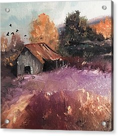 Barn And Birds  Acrylic Print by Michele Carter