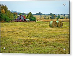 Barn And Field Acrylic Print