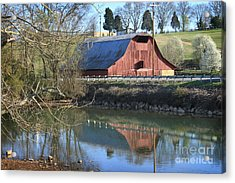 Barn And Reflections Acrylic Print