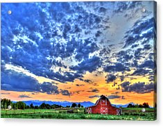 Barn And Sky Acrylic Print by Scott Mahon