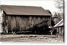 Barn And Truck Acrylic Print