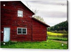 Barn And Wildflowers Acrylic Print by Greg Mimbs