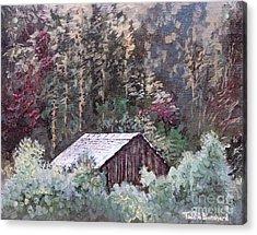Barn At Cades Cove Acrylic Print by Todd A Blanchard