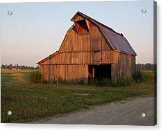 Barn At Early Dawn Acrylic Print by Douglas Barnett