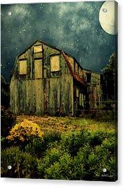 Barn By The Beach Acrylic Print by RC deWinter