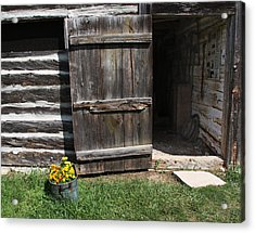 Acrylic Print featuring the photograph Barn Door by Joanne Coyle