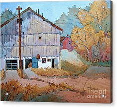 Barn Door Whimsy Acrylic Print
