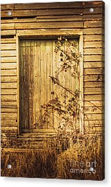 Barn Doors And Hanging Vines Acrylic Print by Jorgo Photography - Wall Art Gallery
