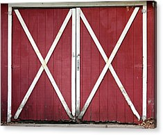 Acrylic Print featuring the photograph Red Barn Doors by Sheila Brown