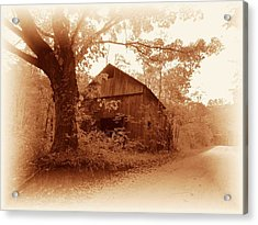 Barn Hocking Co Ohio Sepia Acrylic Print