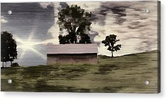 Barn II A Digital Painting Acrylic Print