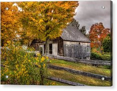 Barn In Autumn Acrylic Print by Joann Vitali