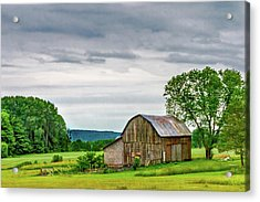 Barn In Bliss Township Acrylic Print by Bill Gallagher