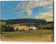 Barn In Field Acrylic Print