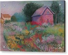 Colorful Barn In Summer Acrylic Print by Laura Sullivan