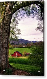Barn In The Valley Acrylic Print by Greg Mimbs