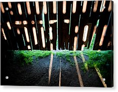 Barn Interior Shadows Acrylic Print