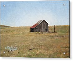 Barn Acrylic Print by Joshua Martin