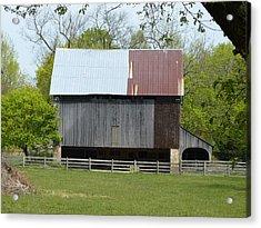 Barn Of Fair Hill Acrylic Print by Donald C Morgan