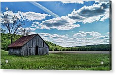 Acrylic Print featuring the photograph Barn On Cedar Creek Bottoms by Cricket Hackmann