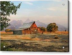 Barn On Morman Row Acrylic Print by EG Kight