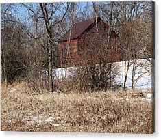 Acrylic Print featuring the photograph Barn On The Edge Of Town by Scott Kingery