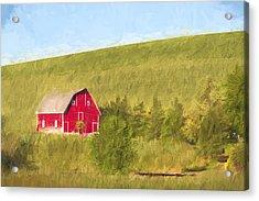 Barn On The Hill II Acrylic Print by Jon Glaser
