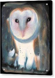 Barn Owl Acrylic Print by The Art of Marsha Charlebois