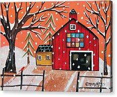 Barn Quilt Acrylic Print by Karla Gerard