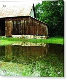 Barn Reflection I Acrylic Print by Anna Villarreal Garbis