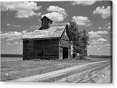 Acrylic Print featuring the photograph Barn Scene ...black And White by Tom Druin