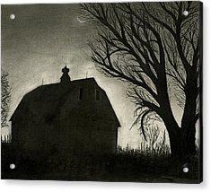 Barn Sillouette Acrylic Print