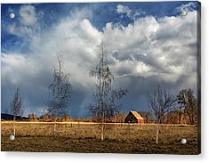Acrylic Print featuring the photograph Barn Storm by James Eddy