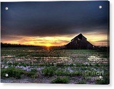 Barn Sunrise Acrylic Print