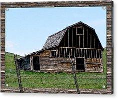 Acrylic Print featuring the photograph Barn by Susan Kinney