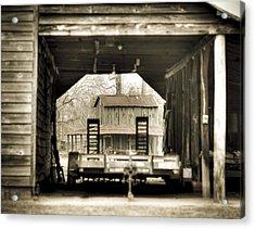 Barn Through A Barn Acrylic Print by Andrew Crispi