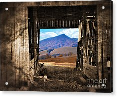 Barn With A View Acrylic Print by Kathy Jennings