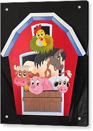 Barn With Animals Acrylic Print