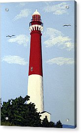 Acrylic Print featuring the painting Barnegat Lighthouse by Frederic Kohli